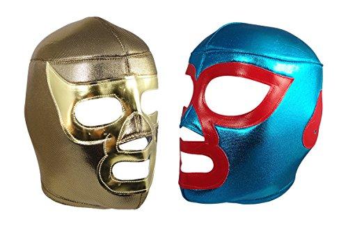 2pk NACHO LIBRE/RAMSES Lucha Libre Wrestling Mask (pro-fit) Costume Wear