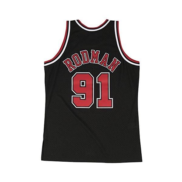 ee4fbadd9a3 Dennis Rodman Chicago Bulls Mitchell & Ness Swingman Jersey Black ...