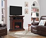 "ClassicFlame 23DE1447-C233 Corinth Wall or Corner TV Stand for TVs up to 47"", Various Colors (Electric Fireplace Insert sold separately) by ClassicFlame"