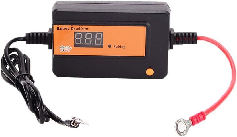 Naranja Auto desulfator de pulso para baterías de plomo-ácido de 2a 12/24/36/48V recargable Regenerador Con Circular anillo