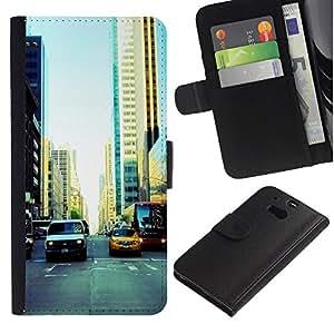 Stuss Case / Funda Carcasa PU de Cuero - NYC Traffic - HTC One M8