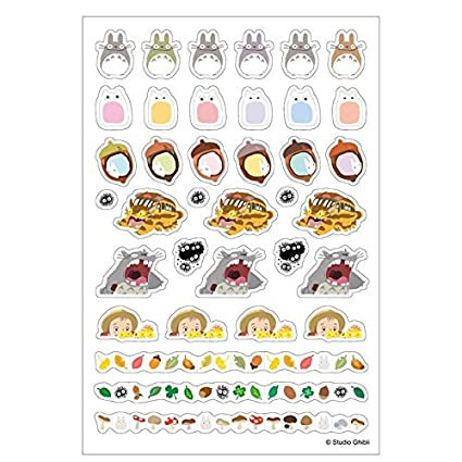 Studio Ghibli My Neighbor Totoro 2 Sheets Schedule Sticker for Planner Diary