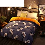 Thickened double fleece single piece quilt cover Warm quilt bed bedding-N 220x240cm(87x94inch)