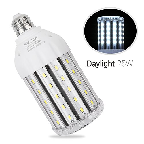 25W Daylight LED Corn Light Bulb for Garage - E26 2500LM 6500K. 200-Watt Led Replacement Bulbs for Indoor Outdoor Large Area Street Lamp Post Lighting Factory Warehouse High Bay Barn ()