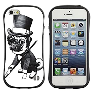 High quality Case for Apple iPhone 4s 4s Gentleman Pug Dog