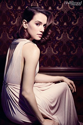 Daisy Ridley Actor Star Fabric Cloth Rolled Wall Poster Print    Size   20  X 13