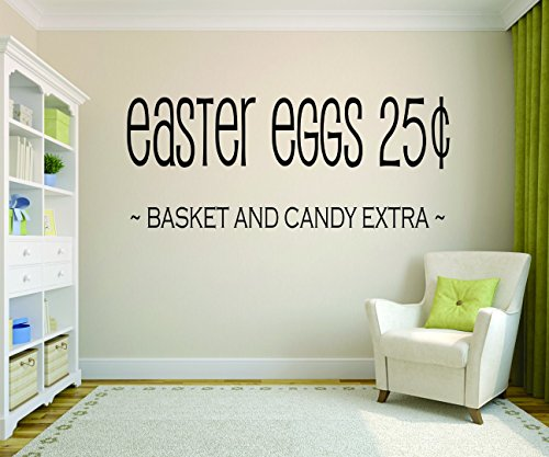 Wall Decal Sale : Easter Eggs 25¢ Basket And Candy Extra Ho