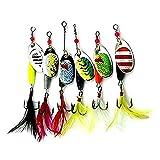 Isafish Fishing Lure Set Spinnerbait Hard Metal Spoon Baits Bass,Trout,Walleye,Salmon Fishing lures Kit