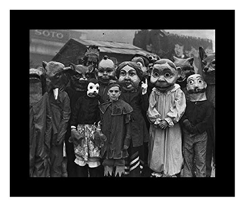 Studio Release Framed 8 x 10 Photo Creepy Vintage Halloween Costumes `930s
