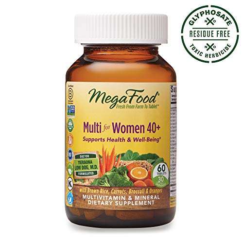 MegaFood, Multi for Women 40 , Supports Optimal Health and Wellbeing, Multivitamin and Mineral Dietary Supplement, Gluten Free, Vegetarian, 60 tablets 30 servings