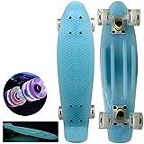 Brand new ''Blue'' with Unique Fun Wheels 22'' Mini Retro Cruiser Skateboard - Complete Board, Same Day Handling