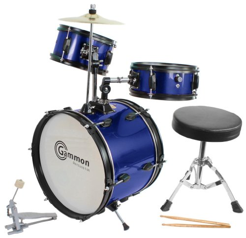 blue-drum-set-complete-junior-kids-childrens-size-with-cymbal-stool-sticks-everything-you-need-to-st