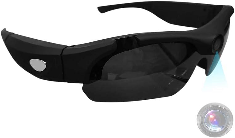 Cámara de gafas de sol deportivas LMGL HD 1080P Mini cámara de vídeo con ángulo de visión amplio de 120°, protección UV, lente polarizada para correr, ...