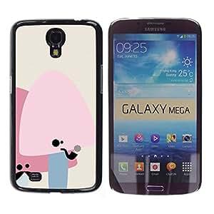 A-type Arte & diseño plástico duro Fundas Cover Cubre Hard Case Cover para Samsung Galaxy Mega 6.3 (Setas lindas del bigote)