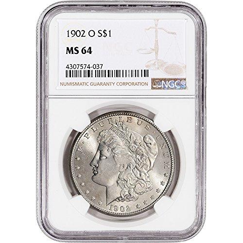 1902 O US Morgan Silver Dollar $1 MS64 NGC
