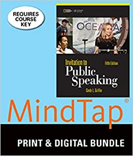 Bundle: Invitation to Public Speaking - National Geographic Edition, 5th + MindTap Speech, 1 term (6 months) Printed Access Card by Cindy L. Griffin (2014-04-02)