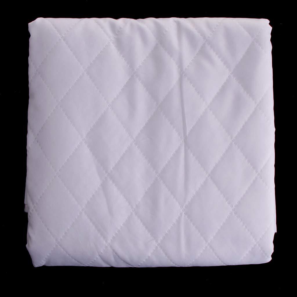 Blanco IPOTCH Tela de Algod/ón Pa/ño de Acolchado Lienzo de Costura 145 x 100 cm
