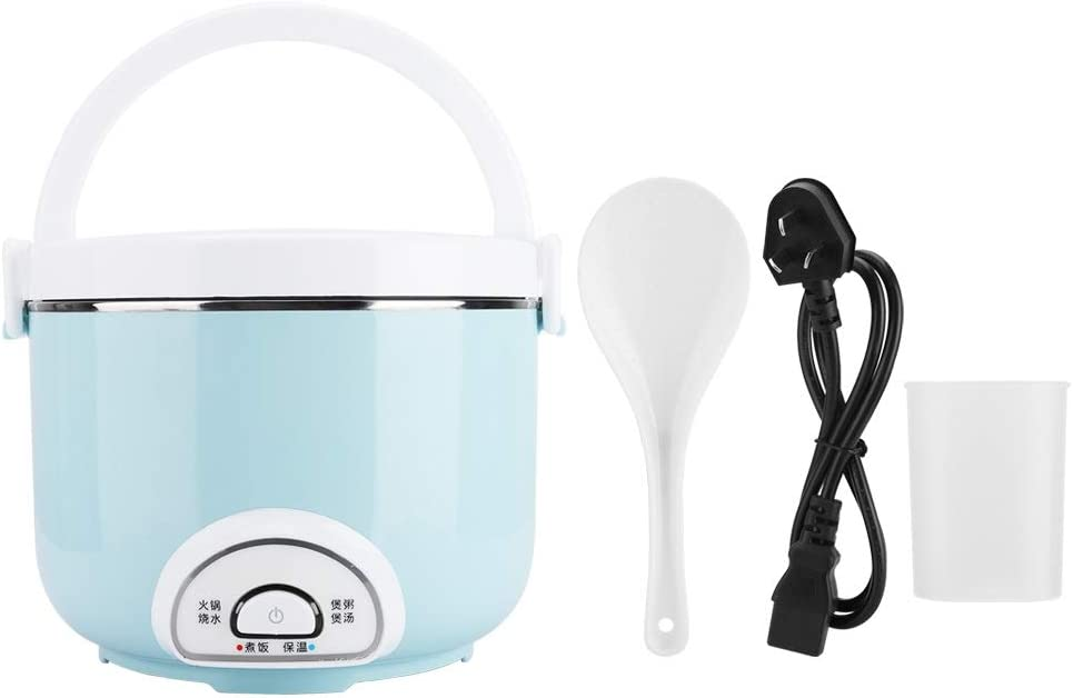 Mini Electric Pot - 2L Mini Electric Rice Cooker Kitchen Stainless Steel Multifunction Portable Rice Egg Cooker Heating Box