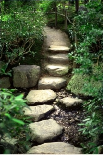 Startonight Canvas Wall Art Country Landscape Stones Stair, Nature USA Design for Home Decor, Dual View Surprise Wall Art 31.5 X 47.2 Inch 100% Original Art (Halloween Decor Hobby Lobby)