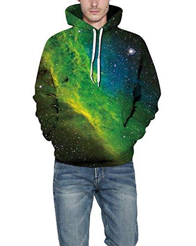Unisexe Fantaisie Pour Pull Galaxy shirt Poche Keldorng Hoodies Sweat Avec Homme Top Capuche 3d Green Unisex Grosse À Imprimé Sweat 4zOq8R