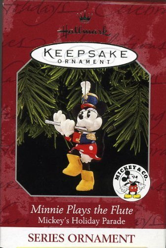 (Hallmark Keepsake Ornament Minnie Plays the Flute Mickey's Holiday Parade 1998 QXD4106)