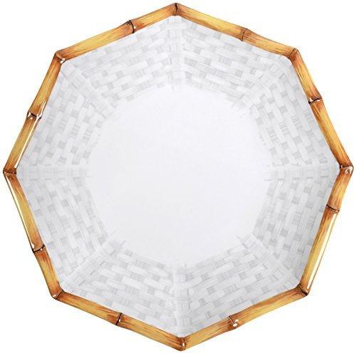 10.5 Plate Melamine (Merritt Botanica Bamboo 10.5-inch Octagonal Melamine Dinner Plates, Set of 6)