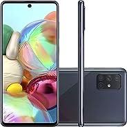 """Celular SAMSUNG Galaxy A71 Preto 6GB 128GB Tela 6.7"""" Camera Quadrupla 64Mp + 12Mp + 5Mp + 5Mp, SM-A715FZ"""