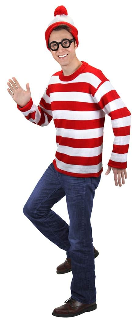 XLarge Elope Where's Waldo Deluxe Costume Adult XLarge