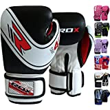 RDX Maya Hide Leather 4oz 6oz Kids Boxing Gloves Junior Punch Bag Children MMA Training Muay Thai Mitts