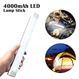 Magnet LED Work Light - Portable Outdoor Camping Light Lantern, Rechargeable Handheld Flashlight with 4000mAh Battery for Household Emergency, Hiking, Biking, Fishing, Car Repairing