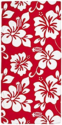 728555abeb9 Amazon.com: CafePress Red Hawaiian Hibiscus Large Beach Towel, Soft 30