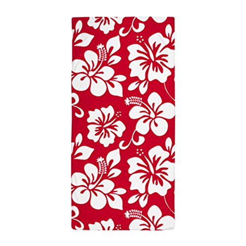 CafePress Red Hawaiian Hibiscus Large Beach Towel, Soft 30