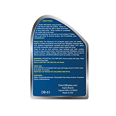 UV Protectant Spray for Vinyl, Plastic, Rubber, Fiberglass, Gel Coat & More - 32 fl oz Luster Restoring Formula: Automotive