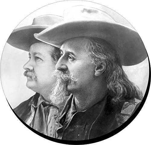 - Set Of 4 Coasters With Cork Backing Coasters Old West Buffalo Bill Cody And Pawnee Bill,