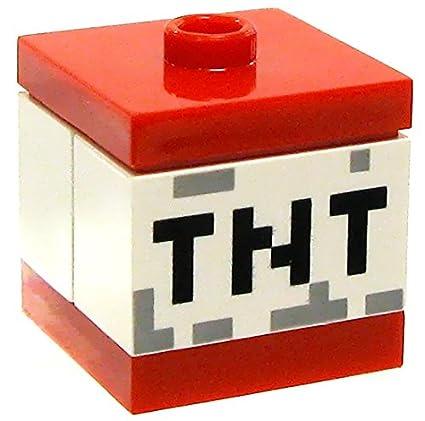 amazon com lego minecraft miscellaneous accessory tnt block toys