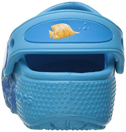Crocs Funlabltfshclg, Sabots Mixte Enfant, Multicolore (Multi/Electric Blue), 27-28 EU