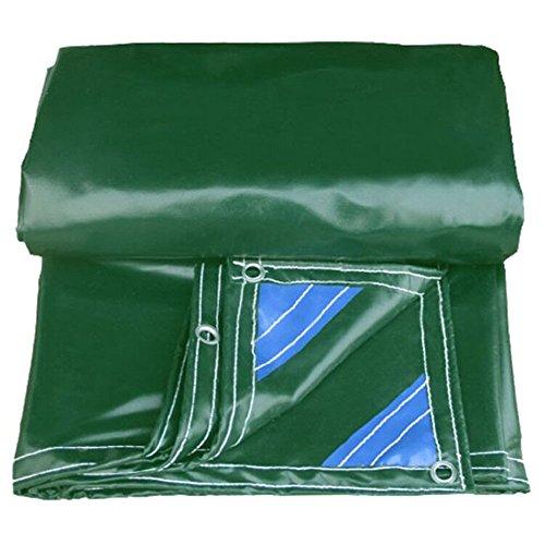 マインドお別れフロンティアQIANGDA トラックシート荷台カバー防風 PVC 防水 耐寒性 日焼け止め 屋根の避難所 トラックカバー、 -560g/m 2、 厚さ0.5mm、 3色、 複数のサイズをご利用いただけます (色 : 緑, サイズ さいず : 3.85 x 5.8m)