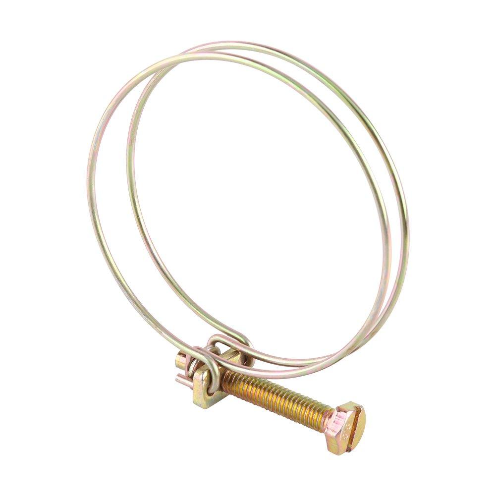 Collier de Tuyau, Walfront Tuyau Ré glable de Double Tuyau d'Eau de Fil Bride de Plomberie (21mm-25mm) Walfront Tuyau Réglable de Double Tuyau d' Eau de Fil Bride de Plomberie (21mm-25mm)