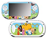 Adventure Time Jake Finn Princess Bubblegum Marceline Ice King BMO Video Game Vinyl Decal Skin Sticker Cover for Sony Playstation Vita Regular Fat 1000 Series System