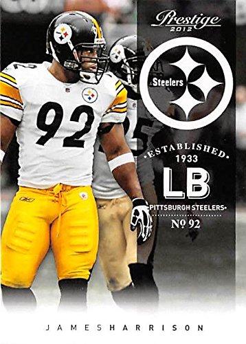 2012 Pittsburgh Steelers Super Bowl - James Harrison football card (Pittsburgh Steelers Super Bowl Champion) 2012 Prestige #156