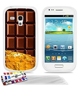 Carcasa Flexible Ultra-Slim SAMSUNG GALAXY S3 MINI de exclusivo motivo [Chocolate] [Blanca] de MUZZANO + 3 Pelliculas de Pantalla UltraClear + ESTILETE y PAÑO MUZZANO® REGALADOS - La Protección Antigolpes ULTIMA, ELEGANTE Y DURADERA para su SAMSUNG GALAXY S3 MINI