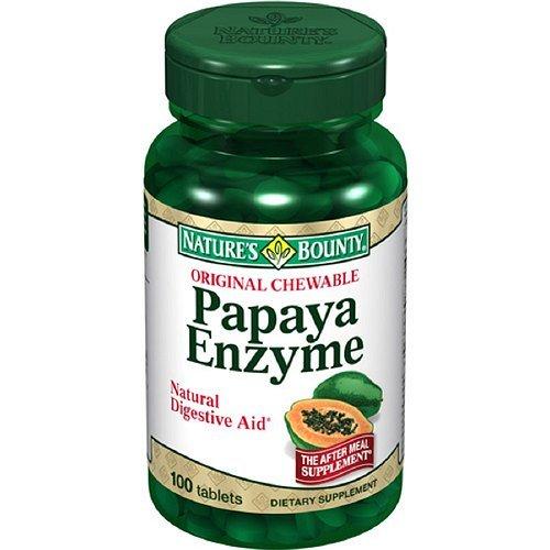 Nature's Bounty Original Chewable Papaya Enzyme, Tablets--100 ea