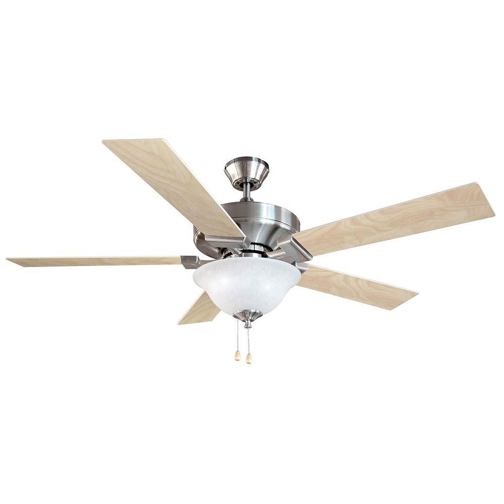Design House 154070 Ironwood 2 Light Ceiling Fan 52 , Satin Nickel