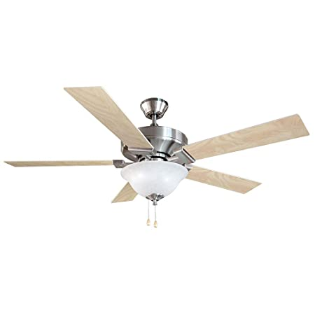 Design House 154070 Ironwood 2 Light Ceiling Fan 52 , Satin Nickel