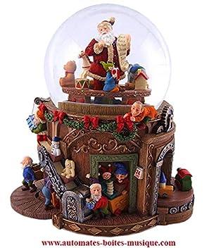 Kit Creation Boule De Noel.Lutèce Créations Boîte à Musique Grande Boule à Neige