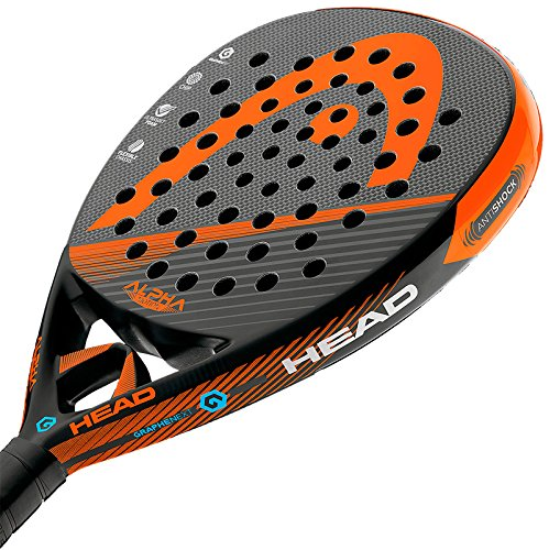 Head Alpha Motion - Pala de pádel, Color Negro/Naranja, Talla 38 mm: Amazon.es: Deportes y aire libre