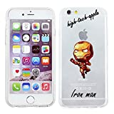iPhone 5/5s Marvel Comic Silicone Phone Case / Gel Cover for Apple iPhone 5s 5 SE / Screen Protector & Cloth / iCHOOSE / Iron Man