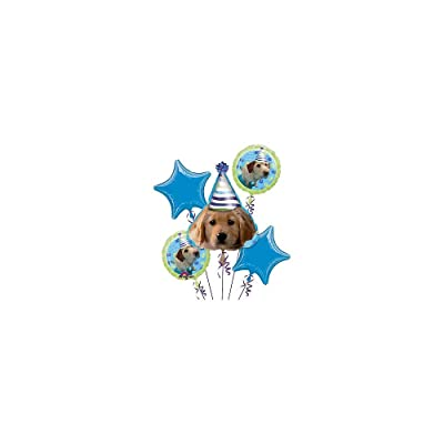 Anagram BB021470 Puppy Party Mylar Balloon Bouquet: Toys & Games