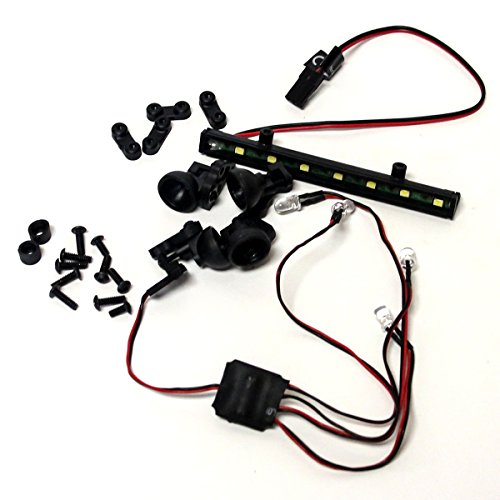 Losi Night Crawler 2.0 4WD Rock: LED Lights, Board & Housing Set, Headlight Tail