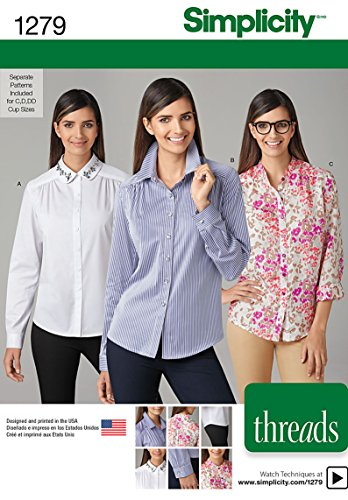 (Simplicity Threads Pattern 1279 Misses Shirt with Collar Variations Sizes 6-8-10-12-14)